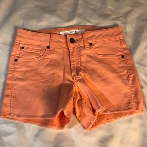 Girls Peach shorts Sz 14 🍑 Joes Jeans
